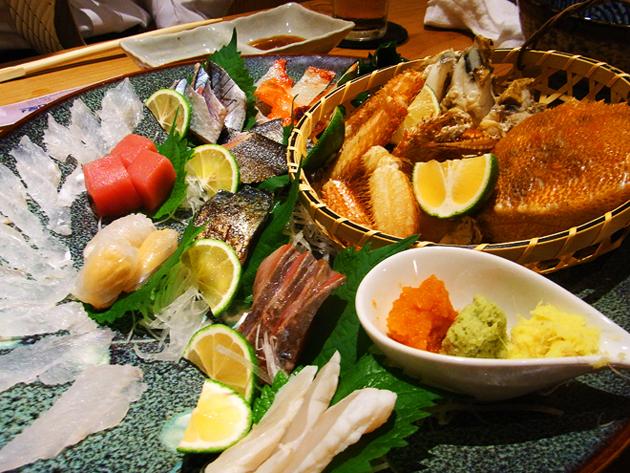 福岡の刺身は美味い